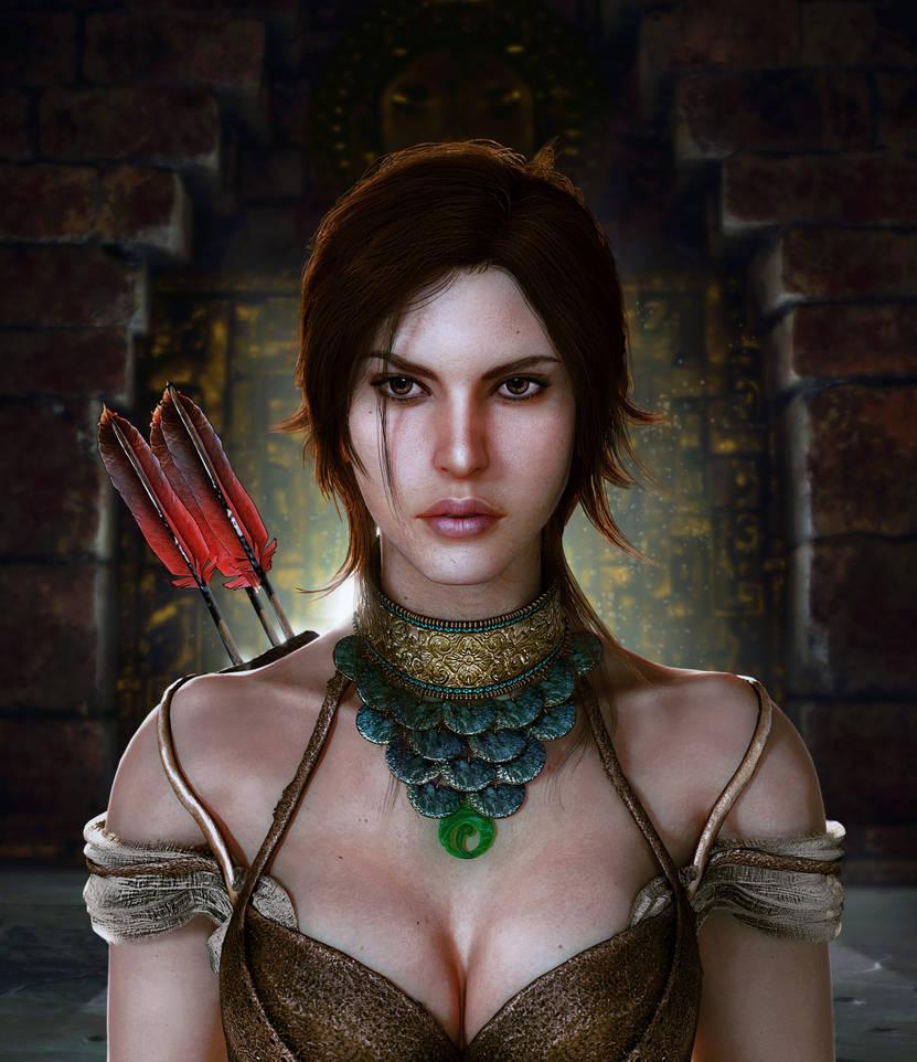 Shadow of the Tomb Raider Lara Croft portrait by konradM96