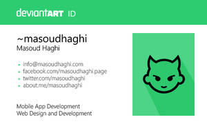deviantART ID with Flat Design by masoudhaghi
