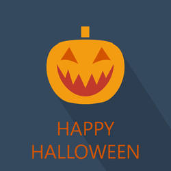 Happy Halloween Flat Poster by masoudhaghi