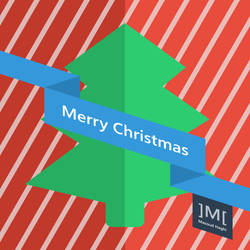 Merry Christmas Poster Flat Design by masoudhaghi