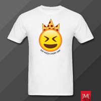 Pizza King Eat Pizza Every Day T-Shirt Design by masoudhaghi