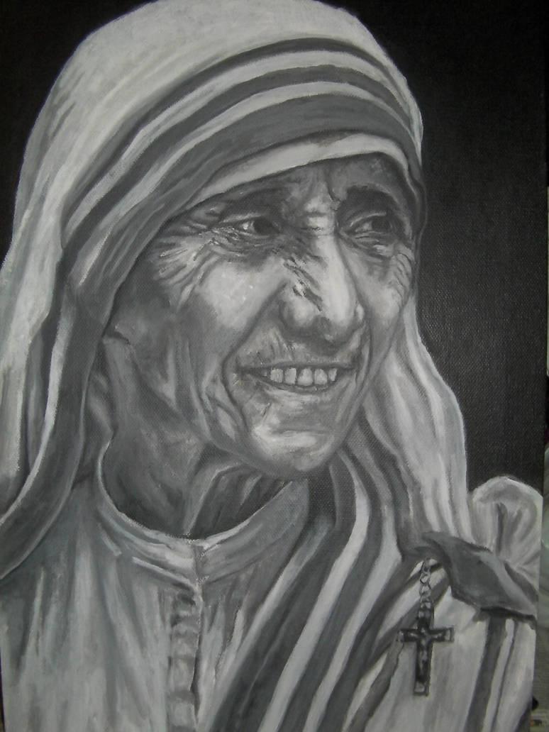 Mother Theresa Blackwhite By Optorylpulpus On Deviantart