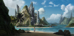 tropical matte painting by guibzz