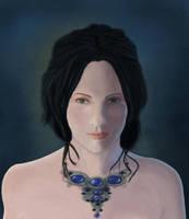 blue portrait by guibzz