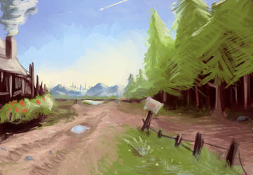 Random Landscape by FantDragon