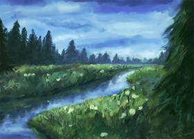 Calm River by dreamin-Lea
