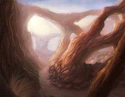 Desert Arches by dreamin-Lea