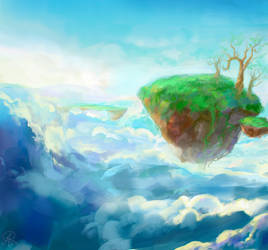 Floating Islands 2 by dreamin-Lea