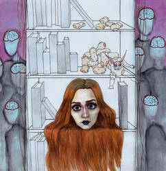 Alienation (letter B) by MademoiselleNoName
