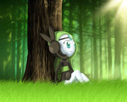 Meloetta in the Forest [First Art] by DarkyBenji