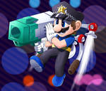 HardBoiledBros - Mario Gunner by DarkyBenji