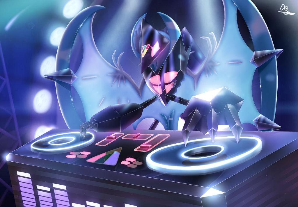 Ultra Lunala - Drop the Beast! by DarkyBenji