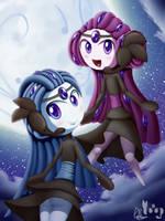 Meloetta - Sheviria and Silvinia by DarkyBenji