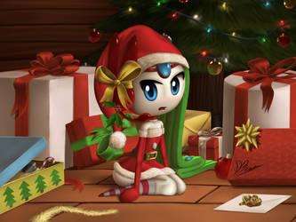 Meloetta Santa Clothe by DarkyBenji