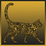 Golden Cat by Louloucatmom