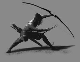 Elf Archer by ienkub