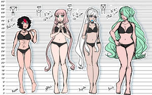 OGloid Height Chart by LadyOgien