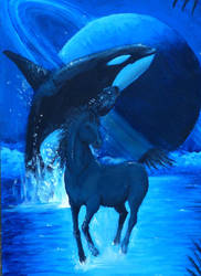 Saturn Orca, horse by Orcas-lover
