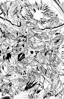 Dinobots vs Predacons Inks by Transypoo