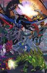 Dinobots V Predacons color by Transypoo