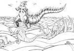 Godzilla page 3 by Transypoo