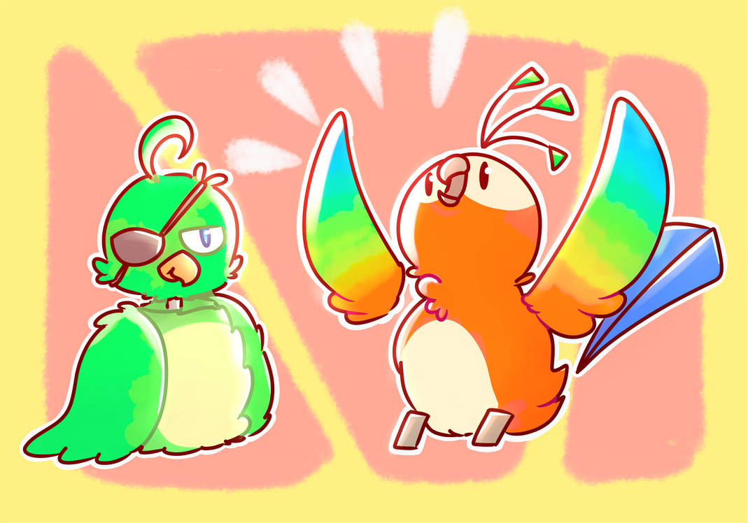 Robo Parrots by sweetmashmellowroom