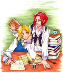 Albus and Gellert - Nerd Love by shorelle