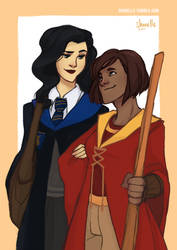 korra + asami - hogwarts AU by shorelle