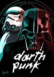 star wars - darth punk by shorelle