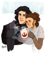 rey + kylo ren - winter modern AU by shorelle