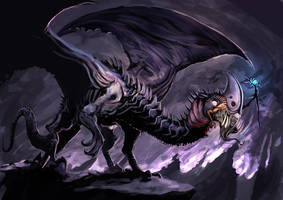lich dragon - WIP 2 by unded