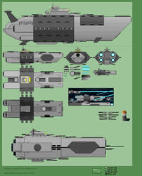 old Dyson Destroyers, Frigates and battleship by jebo14