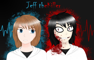 Jeffery and Jeff the Killer by HylianHeartless