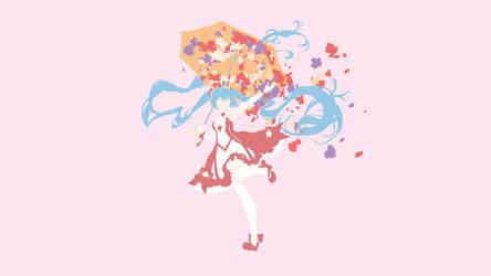 Minimalist Hatsune Miku - Umbrella by fanjiwildanu