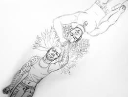 Hardy Sketch by RowdyCowboyJericho
