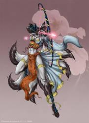 The Kitsune Archer by jeddibub
