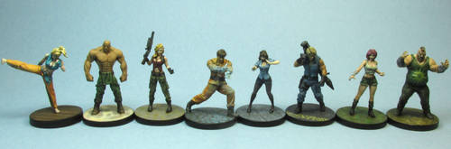Group Shot Characters from Street Masters by AnneCooper