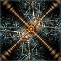 Steampunk X by fractalyzerall