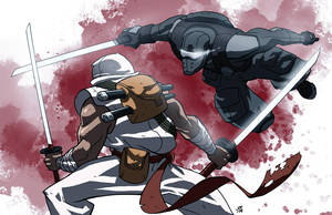 Snake Eyes vs Storm Shadow by jofsuarez