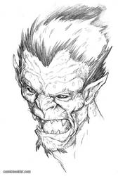 Monster Monday Volume 5 Number 2 - Orc portrait by Comicbookist