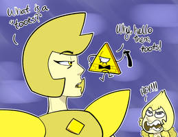 Grunkle Universe - Yellow Diamond meets Bill by itsaaudraw
