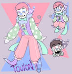 Clownsona - Toulon the Doll Clown by itsaaudraw