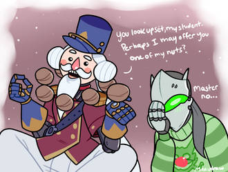Overwatch - Christmas Nut by itsaaudraw