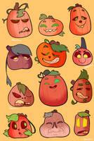 Pumpkin Pals by itsaaudraw