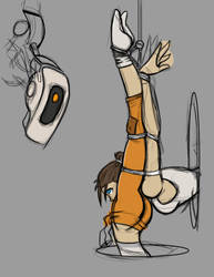 Chell and Glados Unfinished by Rook-07
