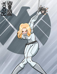 Sharon Carter strappado bondage by Rook-07