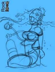 SCUBA mishap sketch by Rook-07