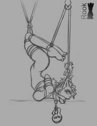 Elana in trouble Sketch by Rook-07