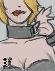 Kinktober 2018 day 26 Collar sketch by Rook-07