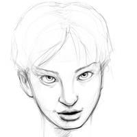 drawingpractice_girl01 by killersid